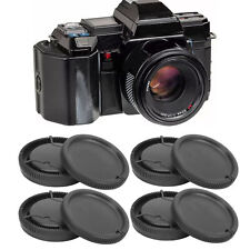 4Pcs Lens Rear Cover Body Front Cover Set for Minolta/Sony A Mount Free Shipping
