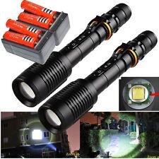 2 Sets Ultrafire 10000 Lumens 5Modes CREE XML T6 LED Flashlight 18650&Charger US