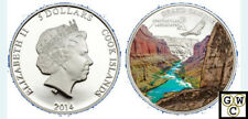 Spectacular Landscapes-The Grand Canyon. Cook Islands $5 2014 Silver Prf (18319)