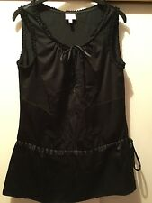 WHISTLES , Ladies Silk Black Party  Top, size 8