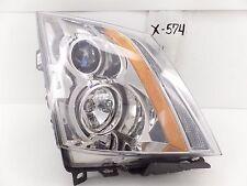 USED OEM HEAD LIGHT HEADLIGHT LAMP CADILLAC CTS HALOGEN 08-14 RH crack