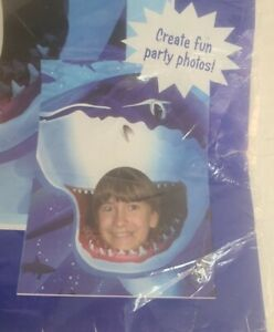 """40""""x 50"""" head in Shark mouth Backdrop Photo opportunity Banner"""