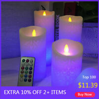 LED Flameless Candles Pillar with Remote Timer Luminara Flickering Moving Wick