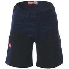 Hard Yakka men's navy and black 'Legends' work cargo shorts size 87(34)R