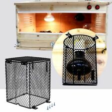 Reptile Heater Guard Heating Bulb Lamp Enclosure Black Cage Protector Mesh Cover