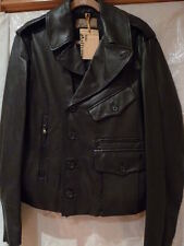 $4,340.JOHN GALLIANO  BLACK LEATHER JACKET ITALY SIZE 48 /38