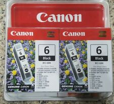 Canon BCI-6 / BCI-6BK BLACK Ink Twin Pack Factory Sealed in Box Genuine Canon