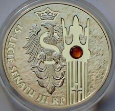 Poland, 20 Zlotych 2004, 15th Anniversary of Polish Senate, Amber, 1 Oz Silver