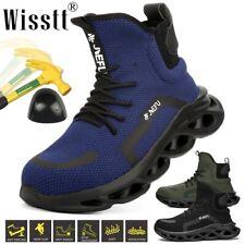 Men's Work Boots Safety Steel Toe Cap Indestructible Bulletproof High Top Shoes