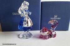 Swarovski Crystal, Disney Set Alice  & Cheshire Cat,