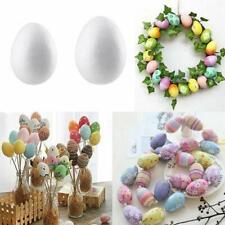 10/50x Easter Egg Styrofoam Foam Ball DIY Easter Decorations Home Child Kids DIY