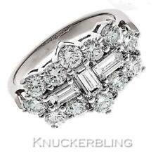 "Diamond ""Boat"" Cluster Ring 2.00ct Baguette & Brilliant Cut F VS 18ct White Gold"