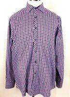 Stone Rose Black Rivet Collection Mens Size 5 Long Sleeve Button Up Shirt Plaid