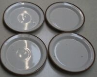 """LOT  OF 4  Dansk BROWN MIST  """"Bread / Butter""""  Plates  GREAT COND. 7 inch"""