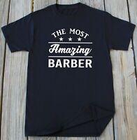 Barber T-Shirt Hair Stylist Saloon Barbershop Profession Funny Barber Gift Tee