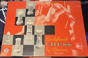 GOTHIC Sculptured Chess SALON EDITION by Peter Ganine PACIFIC GAME, Complete set
