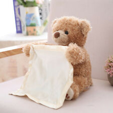 Peek A Boo Teddy Bear 30CM Tall Children Play Soft Stuffed Toy Plush Blanket