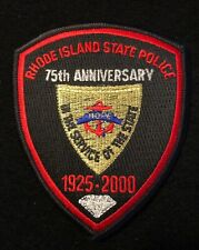 Rhode Island RI State Police Highway Patrol Patch 75th ANNIVERSARY 2000