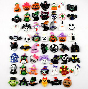 20pc Assorted Resin Halloween Ornaments Flatback Buttons for Crafts Decorations