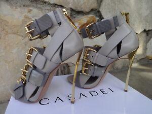 Casadei For Prabal Gurung Blade Runway Caged Sandals EU Size 7