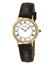 Ladies Seiko Classic Two Handed Dress Watch Roman Numerals 30m WR SFQ830P1