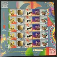 China Macau 2017 - 1 雞年 FULL S/S New Year of  Rooster stamp Zodiac Cock