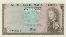 More details for p29a malta one pound banknote in mint condition dated 1967