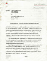 """ITHistory (1989/08) APPLE Press Release: """"Corporate Background"""""""
