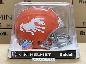 DENVER BRONCOS (1962-65) Riddell VSR4 Mini Throwback Helmet