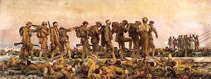 John Singer Sargent, Gassed, War Art, World War Poster, Museum Canvas Print