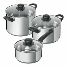 Kuhn Rikon Studio Pan Set 3pc Stainless Steel Cookware with Lids