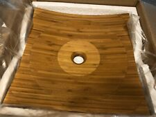 New listing Signature Hardware Square Bamboo Vessel Sink