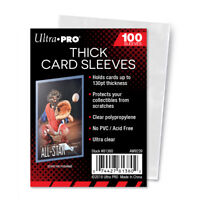 Ultra PRO THICK Card Sleeves 130pt Standard Size Soft Protectors Clear 100ct