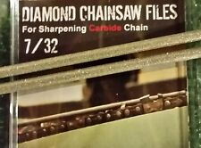 "7/32 Diamond Chainsaw file 7/32"" for Carbide chain 2 pack for full 3/8 chain"