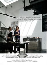 PUBLICITE DE PRESSE. ADVERTISING . PIANO DE CUISINE  LACANCHE .   2015