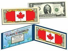 CANADA - FLAG SERIES $2 Two-Dollar U.S. Bill - Genuine Legal Tender Bank Note