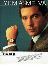 Publicité Advertising 068  1982   montre Homme Yema