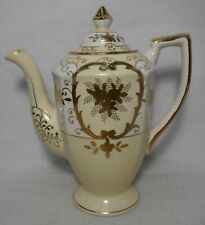 THE HINODE Made in Japan HIN20 GOLD FLOWERS pattern COFFEE POT - 6-5/8""