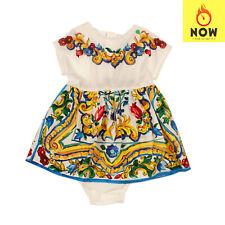 RRP €285 DOLCE & GABBANA A-Line Dress Size 6-9M Multicolour Majolica Zipped