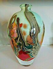 Signed Bernard ACONITO & Pascal GUYOT Biot France Art Glass Modernist Vase