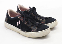 Skechers Girls UK Size 3 Black Glitter Trainers