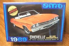 AMT 1969 CHEVELLE SS396 CONVERTIBLE 1/25 SCALE MODEL KIT