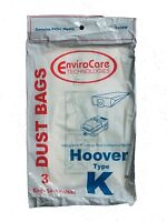 6 Bags for HOOVER Spirit Canister Vacuum TYPE K