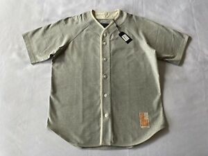Rag & Bone NEW $195 Baseball Jersey S/S  Vintage Heather Gray Made in USA Size L