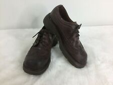 Dr. Martens Dark Brown Leather Casual Oxford WingTip  Shoes Made England Size 7
