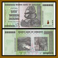 Zimbabwe 50 Trillion Dollars, 2008 AA Unc, 100 Trillion Serie
