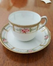 Antique Nippon Hand Painted Tea Cup and Saucer Set