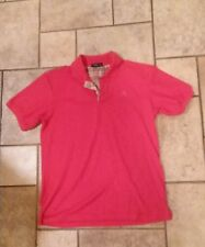 BURBERRY LONDON WOMENS POLO SHIRT CORAL RED WITH BURBERRY COLLAR XXL
