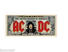 AC DC billet dollar ecusson brodé Neuf Officiel AC DC banknote patch