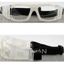 Large Sport Protection Goggles Prescription Glasses Basketball Transparent White
